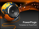 PowerPoint Template - abstract 3d illustration of earth globe with audio speaker inside