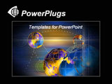 PowerPoint Template - Black template with glowing globes and abstract backgrounds