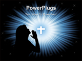 PowerPoint Template - Praying woman