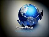 PowerPoint Template - www word surrounding Earth globe - 3d render