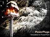 PowerPoint Template - A cozy lantern in a snowy world.