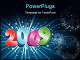 PowerPoint Template - Happy new year decorative starry background .