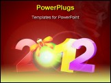 PowerPoint Template - detailed illustartion of a new year background showing the year 2012 eps 8 vector
