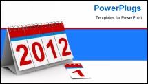 PowerPoint Template - 2012 year calendar on white background. Isolated 3D image