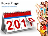 PowerPoint Template - 2011 year calendar on white background. Isolated 3D image