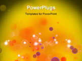 PowerPoint Template - colorful dark bokeh effect background.
