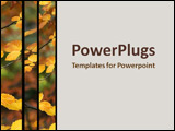 PowerPoint Template - Yellow leaves hanging on a branch