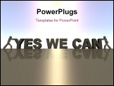 PowerPoint Template - Yes we can written in 3d on the horizon