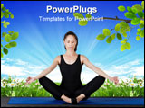 PowerPoint Template - ilates gymnastics is a Germanic evolution of yoga used by athletes to improve flexibility and body