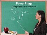 PowerPoint Template - teacher points to inspirational message