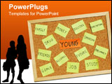 PowerPoint Template - concept of young issues with post it notes