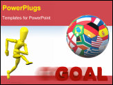 PowerPoint Template - A Colorful 3d Rendered European Soccer Concept Illustration
