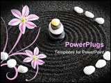 PowerPoint Template - zen garden with harmony in black sand